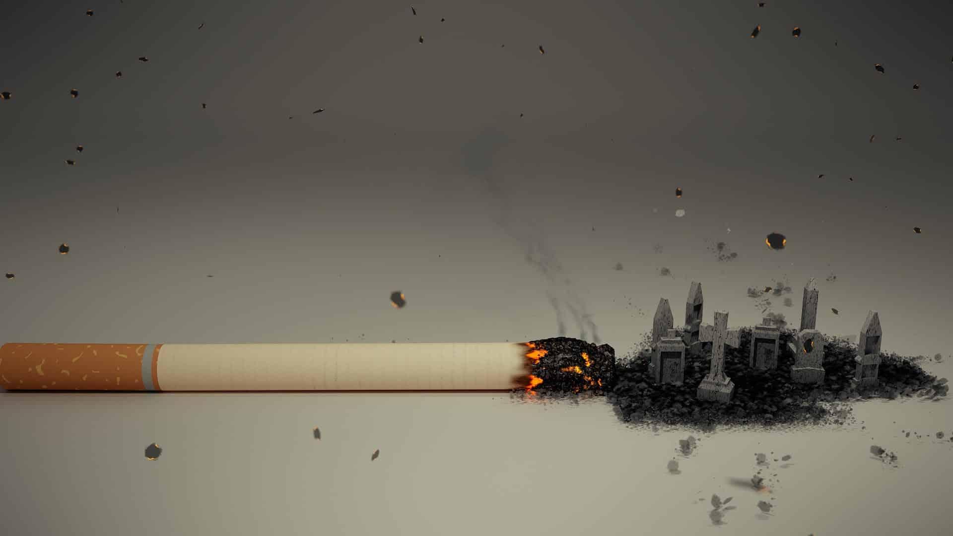 Cigarette tombe